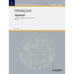 Francaix, Jean: Quartett : für Flöte, Oboe, Klarinette und Fagott Stimmen