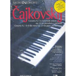 Tschaikowsky, Peter Iljitsch: Konzert b-Moll op.23 für Klavier und Orchester (+CD) : für 2 Klaviere Spielpartitur