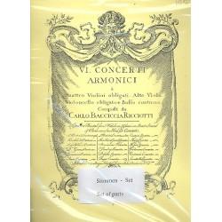 Wassenaer, Unico Wilhelm van: 6 Concerti Armonici : for 4 violins, viola, cello and Bc 8parts (facsimile)