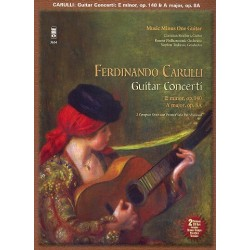 Carulli, Ferdinando: 2 Concerti for Guitar and Orchestra (+2 CD's) : printed guitar part