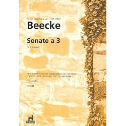 Beecke, Notker Ignaz Franz von: Sonate a 3 : f├╝r 3 Klaviere Partitur