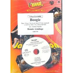 Armitage, Dennis: Boogie (+CD) : f├╝r 4-stimmiges Ensemble (Klavier/Orgel und Percussion ad lib) Partitur und Stimmen