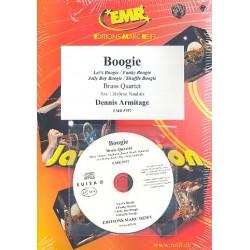 Armitage, Dennis: Boogie (+CD) : für 4 Blechbläser (Klavier/Orgel und Percussion ad lib) Partitur und Stimmen