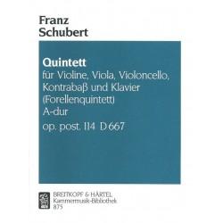 Schubert, Franz: Quintett A-Dur D667 op.114 : für Violine, Viola, Violoncello, Kontrabaß und Klavier