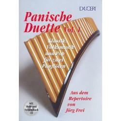 Panische Duette Band 1 (+CD) : für 2 Panflöten Spielpartitur