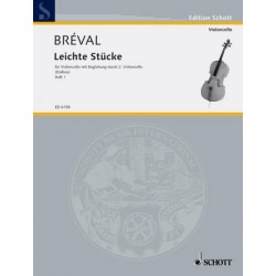 Bréval, Jean Baptiste: Leichte Stücke Band 1 : für 2 Violoncelli Spielpartitur