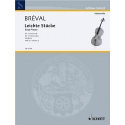 Bréval, Jean Baptiste: Leichte Stücke Band 2 : für 2 Violoncelli Spielpartitur