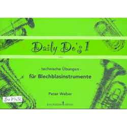 Weber, Peter: Daily Do's Band 1 : f├╝r Tuba
