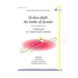 Joshua fight the Battle of Jericho: für 3 Posaunen Partitur und Stimmen