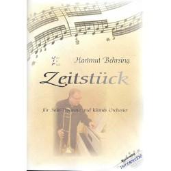 Behrsing, Hartmut: Zeitstück : für Posaune und Kammerorchester Partitur
