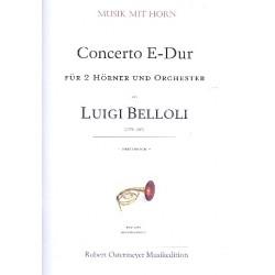 Belloli, Luigi: Konzert E-Dur für 2 Hörner und Orchester : für 2 Hörner und Klavier Stimmen