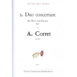 Corret, A.: Duo concertant Nr.2 op.7 für Horn und Gitarre Partitur und Stimme
