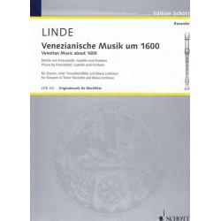 Venezianische Musik um 1600 : für 2 Blockflöten (ST) und Klavier