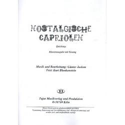 Jaskon, Günter: Nostalgische Capriolen : für Gesang und Combo Direktion/Klavier (mit Text und Akkorden)