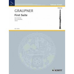 Graupner, Christoph: Suite no.1 : for 3 clarinets score