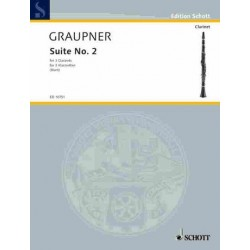 Graupner, Christoph: Suite no.2 for 3 clarinets score