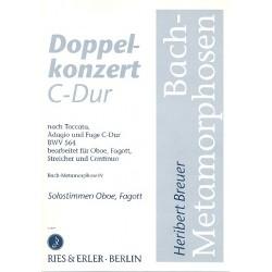 Breuer, Heribert: Doppelkonzert C-Dur : f├╝r Oboe/Fagott/Streicher/Continuo