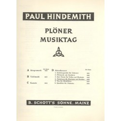 Hindemith, Paul: Plöner Musiktag D, Abendkonzert Nr. 4 : Variationen für Klarinette und Streicher Partitur