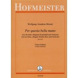 Mozart, Wolfgang Amadeus: Per questa bella mano KV612 : für Baß, Kontrabaß und Orchester