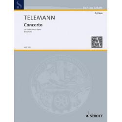 Telemann, Georg Philipp: Concerto : per 4 violini senza basso Stimmen
