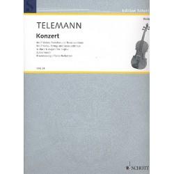 Telemann, Georg Philipp: Konzert G-Dur für 2 Violen und Streichorchester : für 2 Violen und Klavier