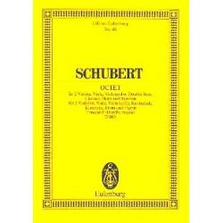 Schubert, Franz: Oktett F-Dur op.166 D803 : f├╝r Klarinette, Horn, Fagott, Kontrabass und Streichquartett, Studienpartitur