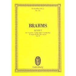Brahms, Johannes: Sextett G-Dur op.36 : für 2 Violinen, 2 Violen und 2 Violoncelli, Studienpartitur