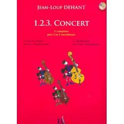 Dehant, Jean-Loup: 1.2.3. concert (+CD) : pour 2 -3 contrebasses partition