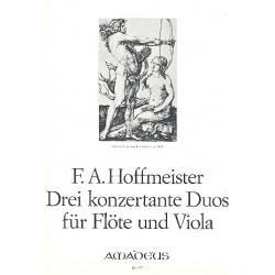Hoffmeister, Franz Anton: 3 konzertante Duos : für Flöte und Viola Stimmen