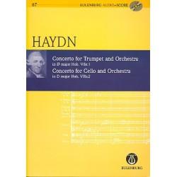 Haydn, Franz Joseph: Konzert für Trompete und Orchester und Konzert für Violoncello und Orchester (+CD) Studienpartitur