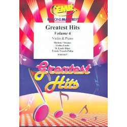Greatest Hits vol.6: for 2 violins and piano (Percussion ad lib) score and parts