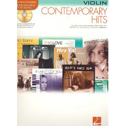 Contemporary Hits (+CD) : for violin Instrumental Play Along