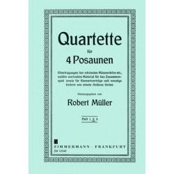Müller, Robert: 5 ausgewählte Quartette Band 2 : für 4 Posaunen Partitur und 4 Stimmen