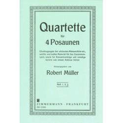 Müller, Robert: 5 ausgewählte Quartette Band 3 : fuer 4 Posaunen Partitur+Stimmen