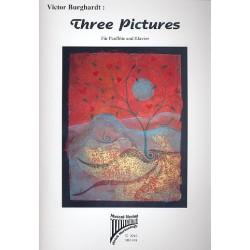 Burghardt, Victor: Three Pictures : 3 S├ñtze f├╝r Panfl├Âte und Klavier