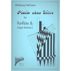 Hofmann, Wolfgang: Psalm ohne Worte : Komposition für Panflöte und Orgel (Klavier)
