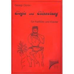 Gürov, Georgi: Elegie und Erinnerung (+CD) : 2 Popballaden für Panflöte und Klavier