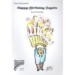 Herkenhoff, Ulrich: Happy-Birthday-Fugato : für 3 Panflöten (Panflötenchor) Partitur und 3 Stimmen