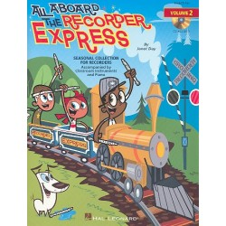 Day, Janet: All aboard the Recorder Express vol.2 (+CD) : for recorders, Orff percussion and piano score