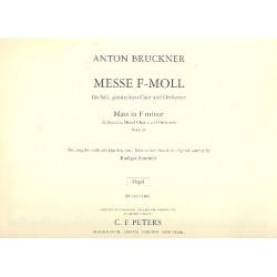 Bruckner, Anton: Messe f-Moll : f├╝r Soli, Chor und Orchester Orgelstimme
