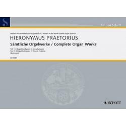 Praetorius, Hieronymus: Sämtliche Orgelwerke Band 1