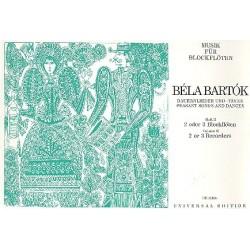 Bartók, Béla: Bauernlieder und -tänze für Altblockflöten Spielpartitur