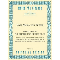 Weber, Carl Maria von: Divertimento : für Gitarre und Klavier