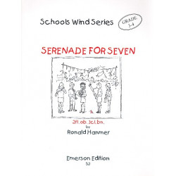 Hanmer, Ronald: Serenade for Seven : for 2 flutes, oboe, 3 clarinets and bassoon score and parts