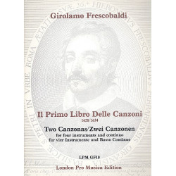 Frescobaldi, Girolamo Alessandro: 2 Canzonas for 4 instruments and continuo