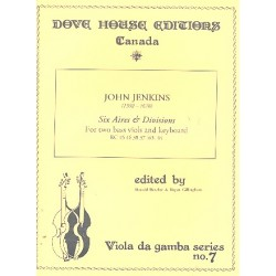 Jenkins, John: 6 Airs and Divisions for 2 bassviols and keyboard
