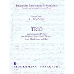 Gervasio, Giovanni Battista: Trio D-Dur : f├╝r 2 Mandolinen und bc Stimmen