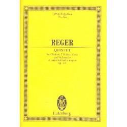 Reger, Max: Quintett A-Dur op.146 : f├╝r Klarinette und Streichquartett Studienpartitur