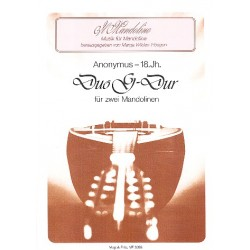 Anonymus: Duo G-Dur : f├╝r 2 Mandolinen Stimmen