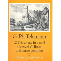 Telemann, Georg Philipp: Triosonate c-Moll Nr.12 : für 2 Violinen und Bc